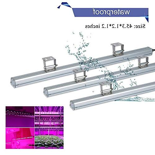 LED Waterproof 45 Inches Growing Light Spectrum for Garden Greenhouse Hydroponic Plants by Lightimetunnel