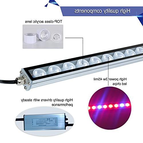 LED Waterproof 45 Inches Light Bar with Spectrum for Garden Hydroponic Indoor Plants by Lightimetunnel