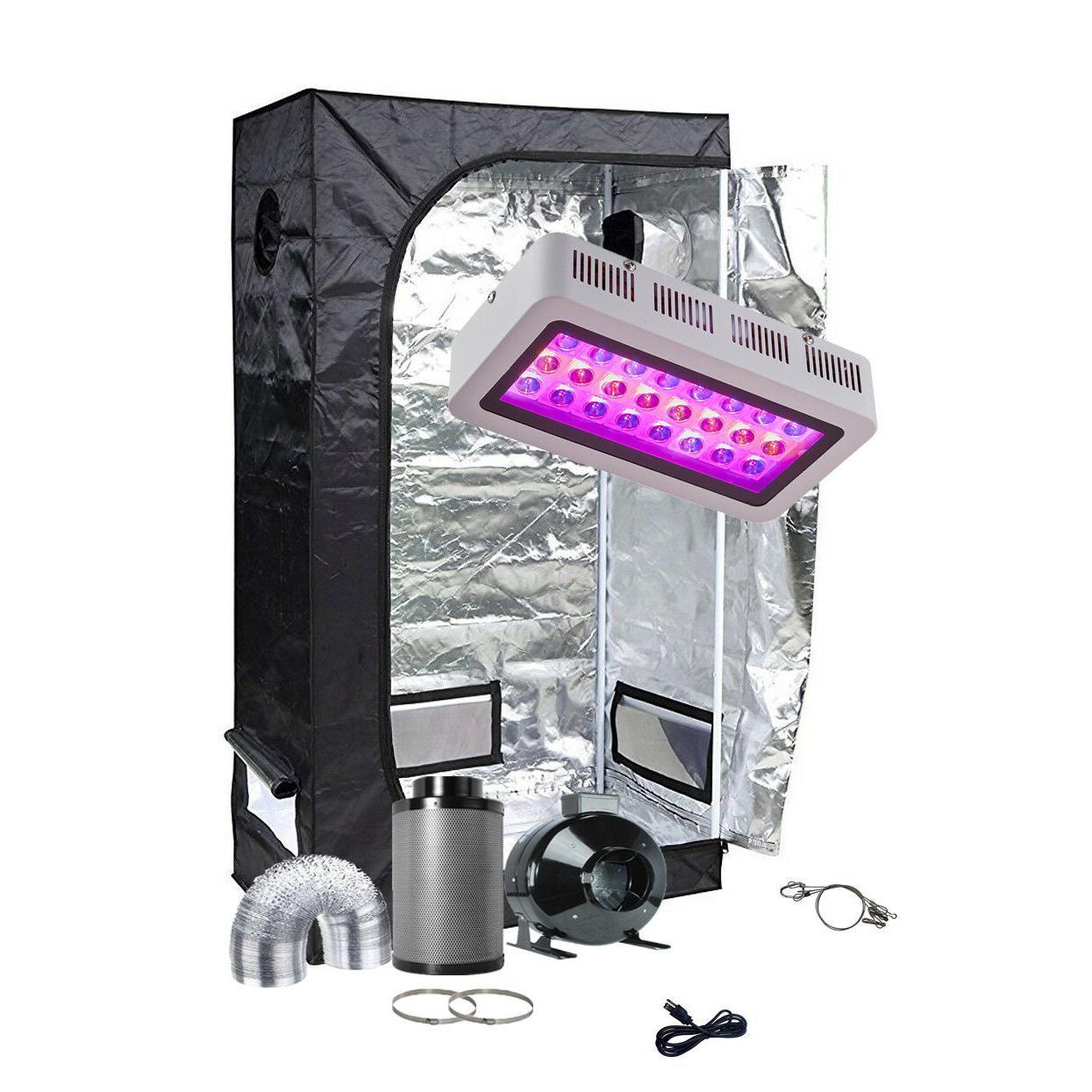 TopoGrow LED Light Fan Filter Combo Kit