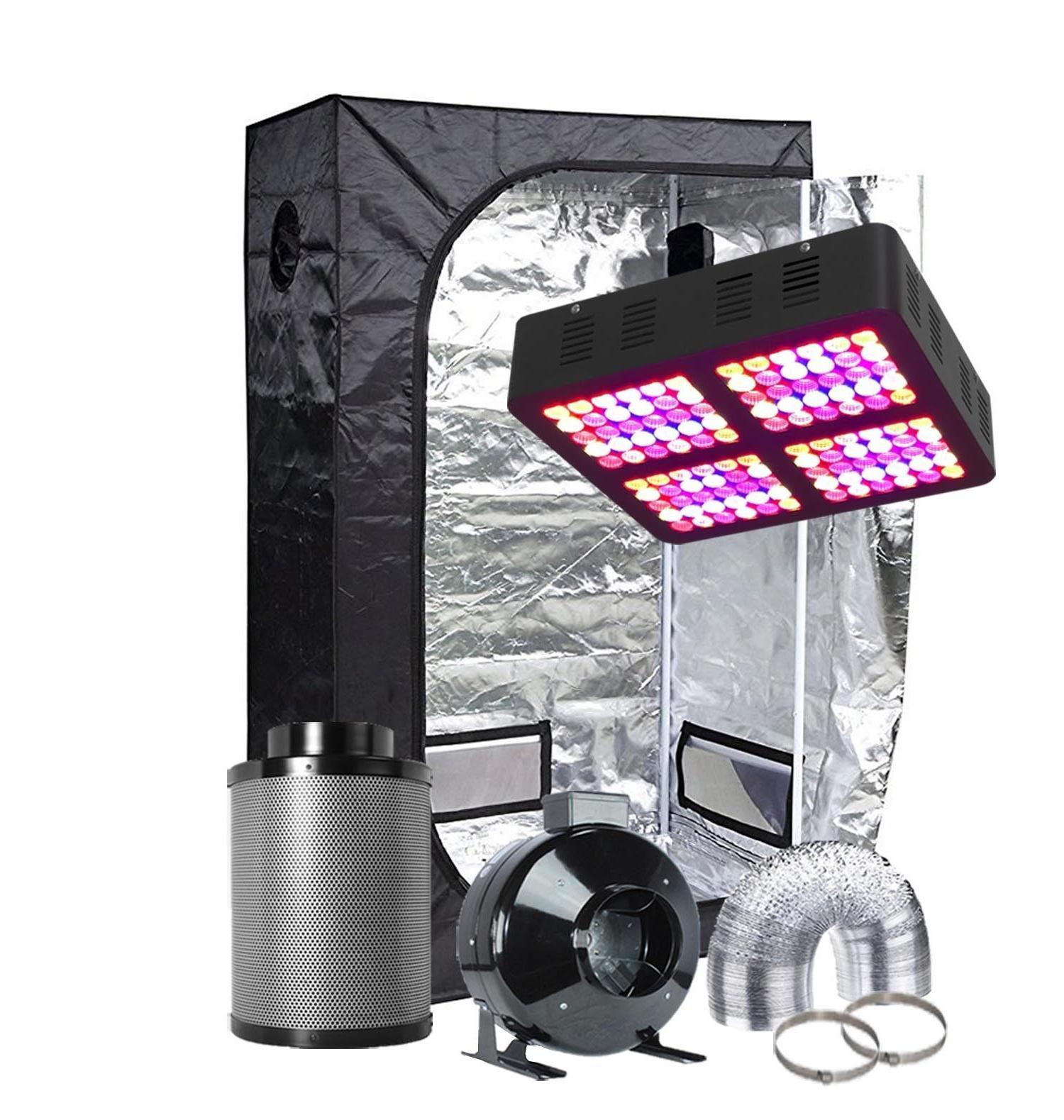 TopoGrow 600W Grow Light Kit + Indoor Grow Tent Room Kit