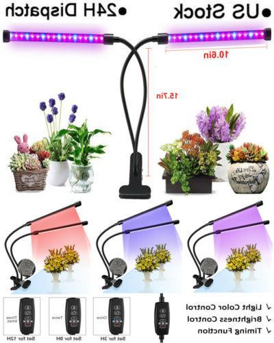 40 leds Plant Grow Light Bulbs Clip Holder Flower Growing Gr