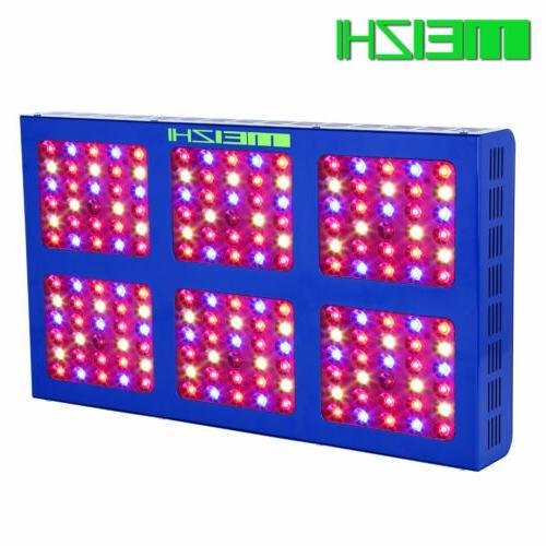 MEIZHI Reflector 900W LED Grow Lights Full Spectrum Hydropon