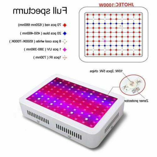 LED Grow 1000W Full Spectrum Hydroponic greenhouse Bloom