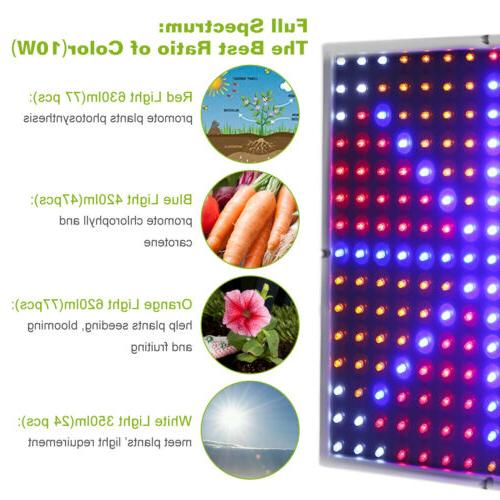225LED Grow Lamp Full Orange Quad-band Plant Panel