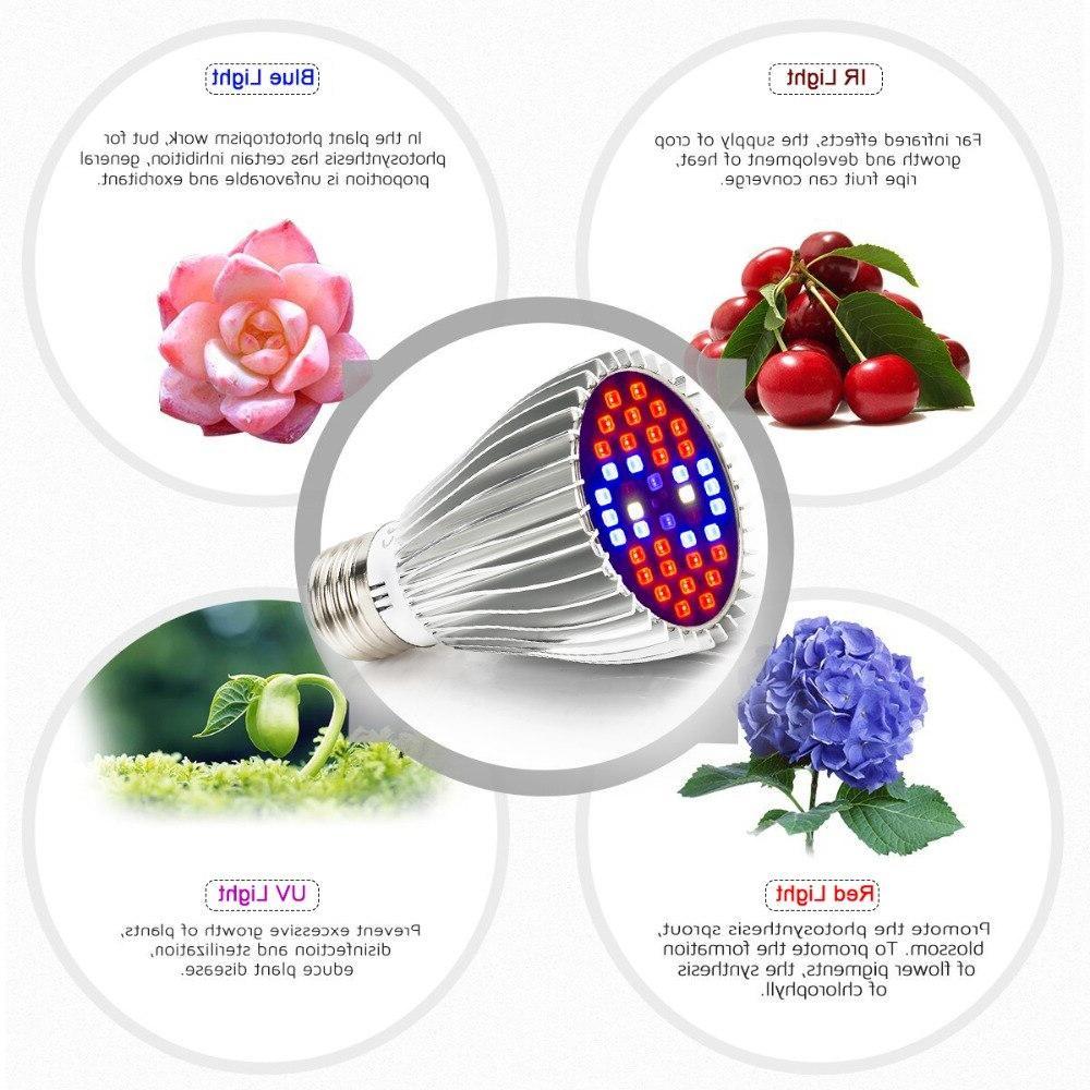 LED Plant <font><b>Grow</b></font> <font><b>Light</b></font>,with <font><b>Thermometer</b></font> Humidity Spectrum <font><b>Light</b></font> for Veg