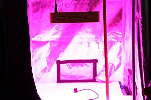 MarsHdyro LED Grow Light 102W True Veg and Switchable Spectrum for Indoor