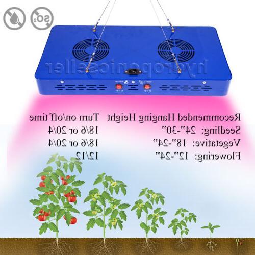 MEIZHI 480W Grow Light Spectrum Hydroponics Veg Growth Indoor