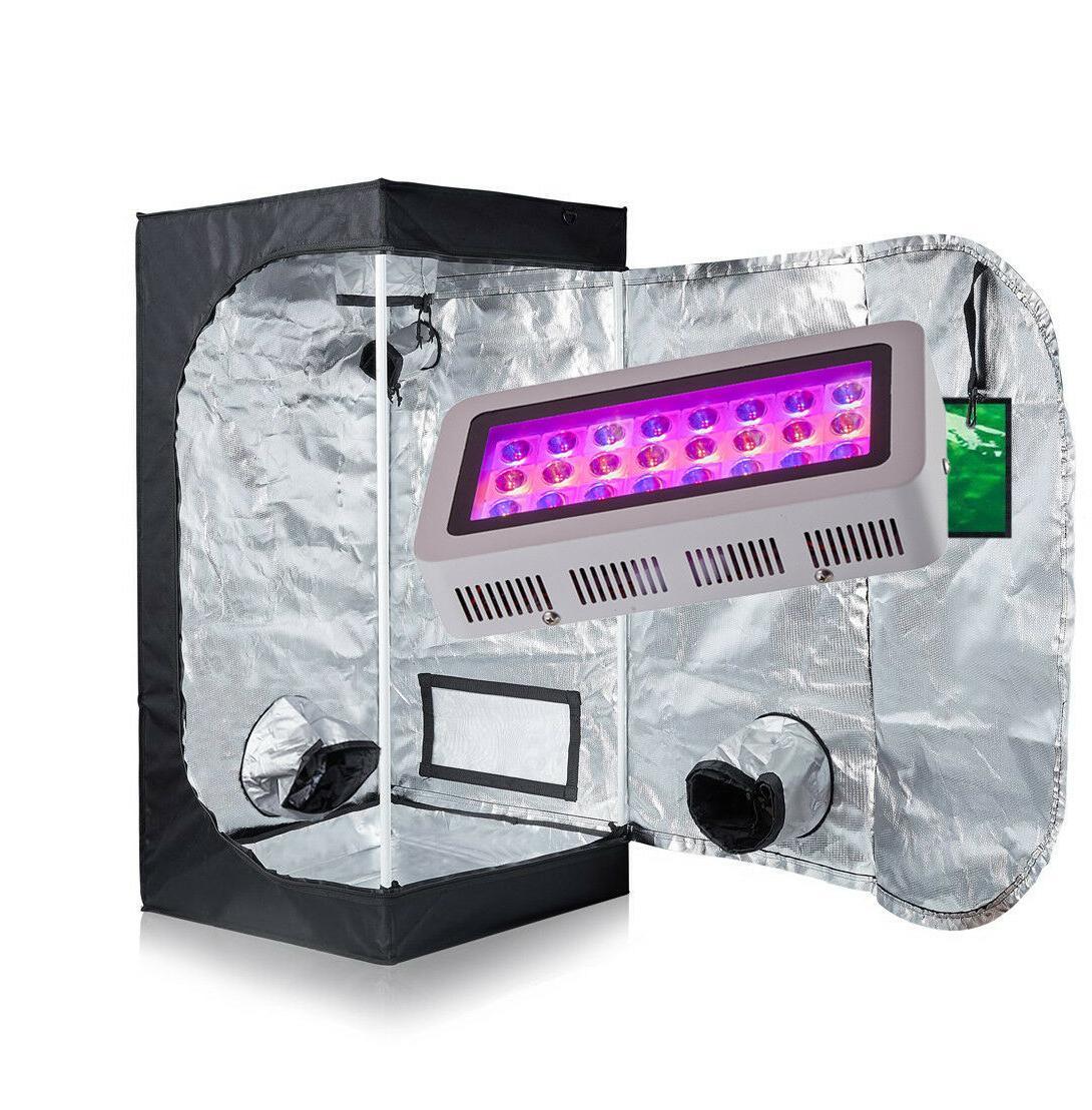 "TopoGrow LED 300W Panel Grow Light Kit +24""x24""x48"" Indoor G"