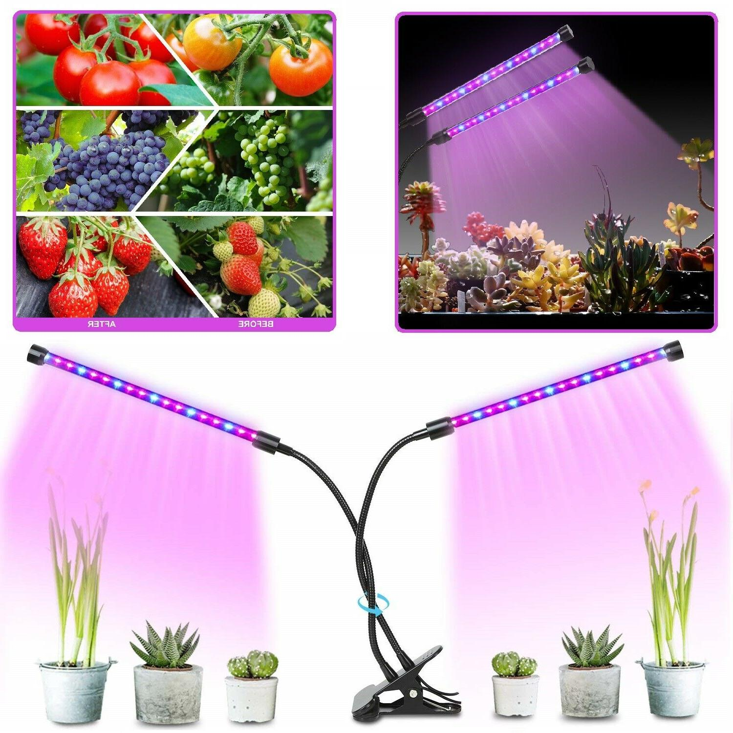 plant grow light dimmable dual head led