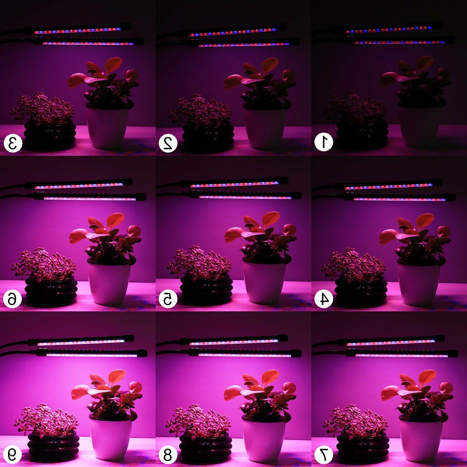 Plant Grow Light Dual Head LED Hydroponics Dimmable