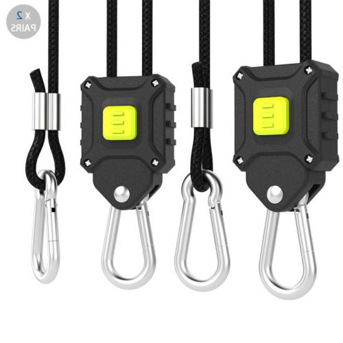 "VIVOSUN 2 Pair 1/8"" Push-Button Adjustable Rope Hangers for"