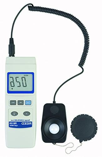 REED Instruments R8120 Lux Light Meter with Detachable Sensor 20,000 Lux