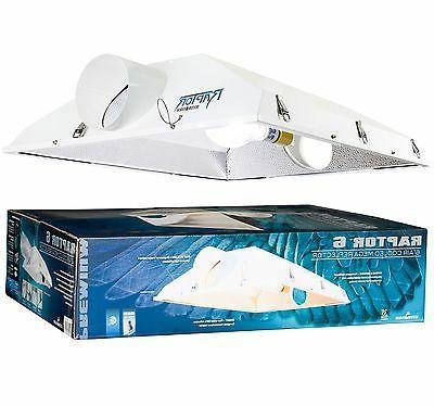 "NEW! Hydrofarm Raptor 6"" Air Cooled Grow Light Fixture Refle"