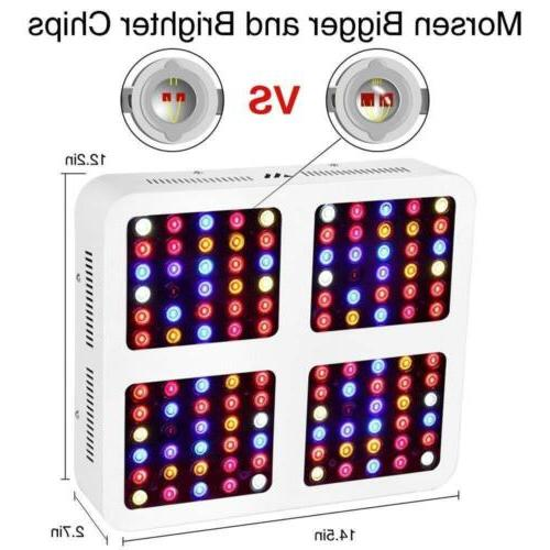 MORSEN Reflector-Series 1200W LED Grow Light Full Spectrum for Indoor