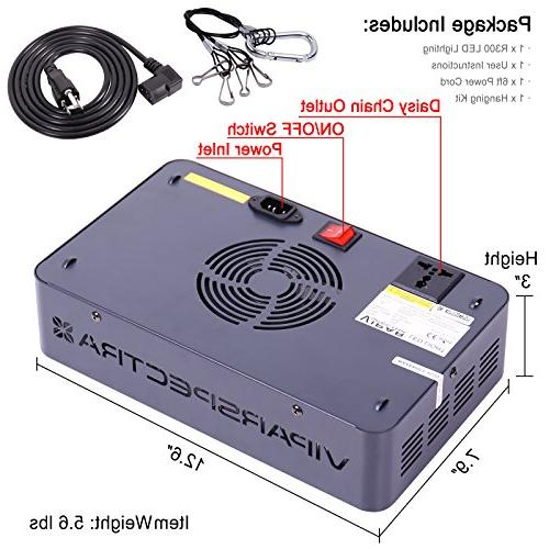 VIPARSPECTRA Reflector-Series LED Grow Spectrum Veg and Daisy