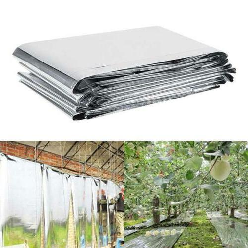 Silver Plant PETP Reflective Film Garden Greenhouse Grow Lig