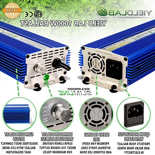 Yield Lab Horticulture 1000w HPS Cool Reflector Easy System For And Timer 12 Grow Guide