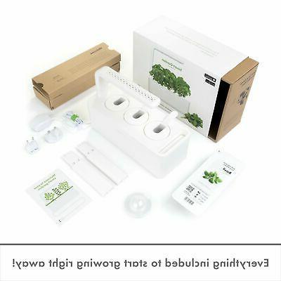 Click and Garden Indoor Gardening Kit Includes Capsules Gray