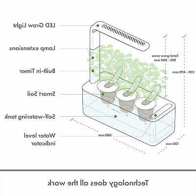 Click and Smart Garden Indoor Kit Basil Gray
