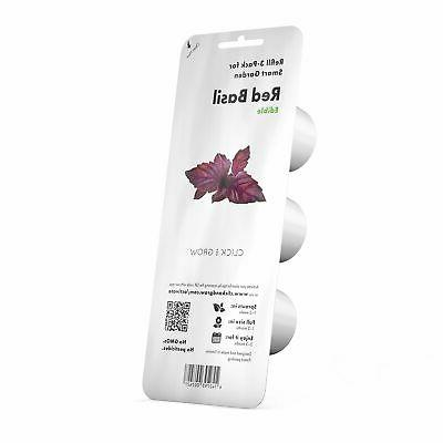 smart garden red basil plant pods 3