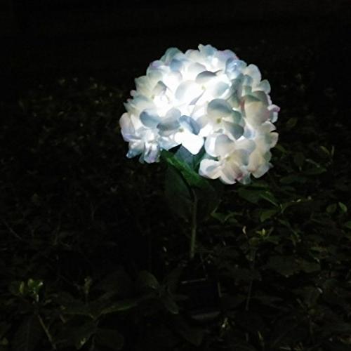 Solar Power Hydrangea LED Lamps Yard