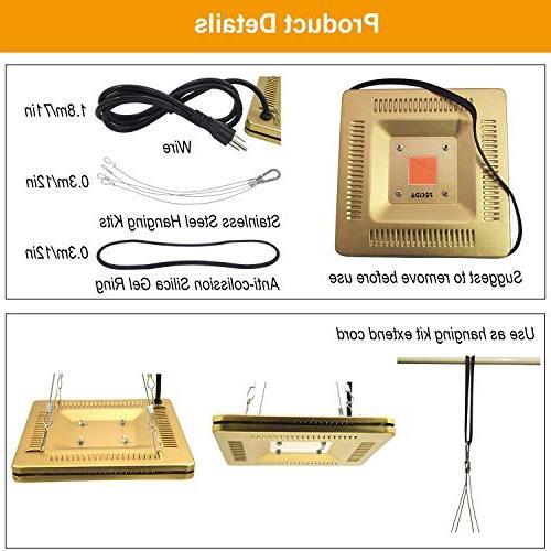 FECiDA Waterproof LED Lights, 110V 50W LED Light Set, 300W T5 Bulbs & Bar Full for Ultra-Thin and Grow Tent