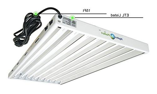 Hydroplanet 4ft Fluorescent Ho Bulbs Included for T5 Lights Fixtures