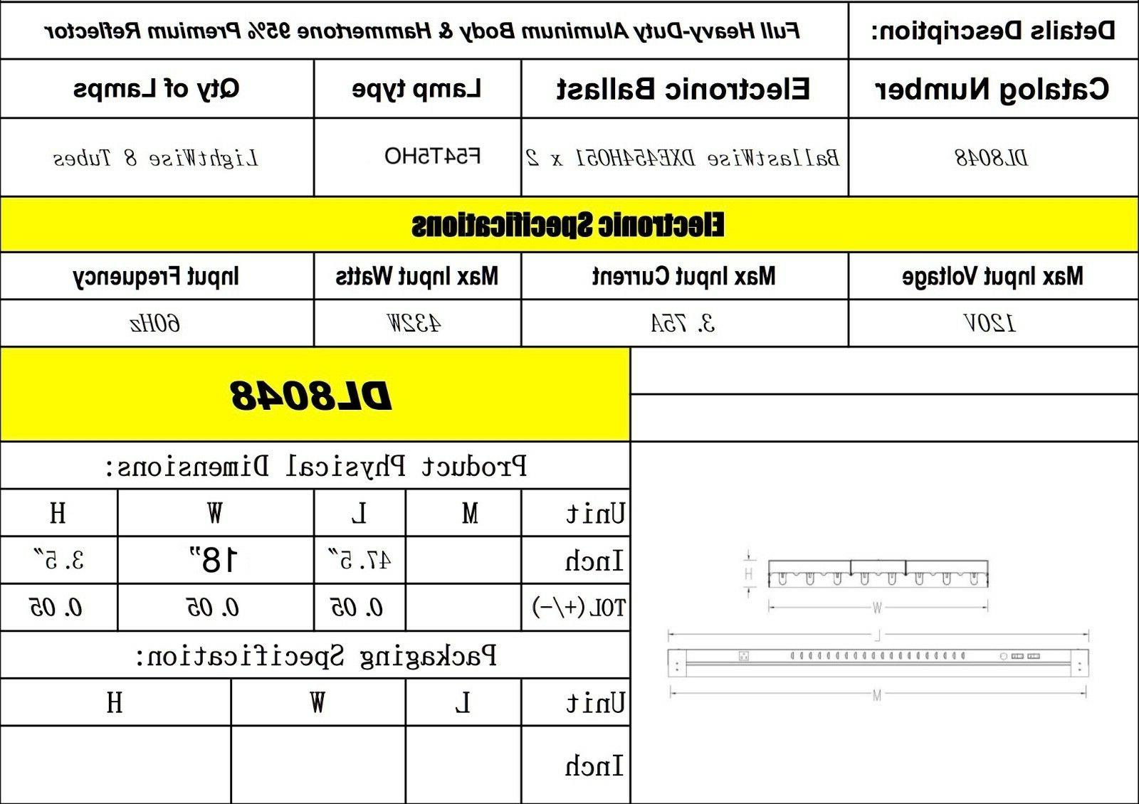 DUROLUX T5 HO INDOOR GROW FT BULB DL8048 FLUORESCENT