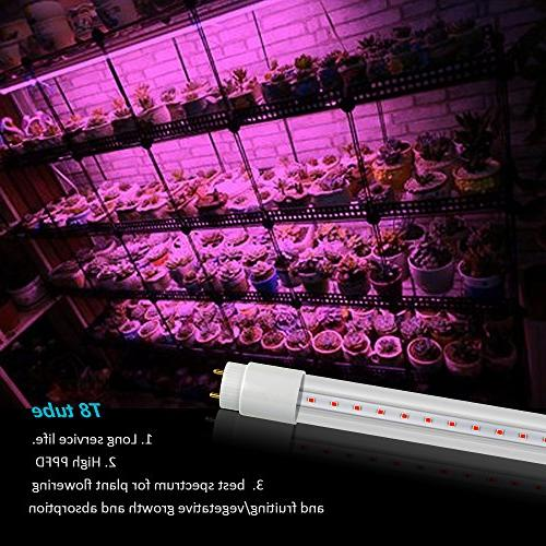 GrowLED Thinklux LED T8 - LED Grow Tube for and Watts Bypass UL Listed, 4
