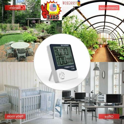 V99 GROW Light Digital LCD Indoor Hygrometer Thermometer Roo