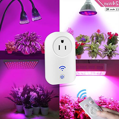 UNIFUN Wireless Remote Control Socket Electrical Switch Smart Timer Grow Plant Light White