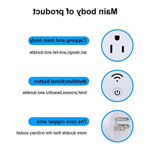 UNIFUN Wireless Socket Electrical Outlet Smart Timer for Grow Lights, Plant Switch,