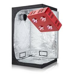 TopoGrow LED 800W COB Grow Light +600D Indoor Grow Tent Hydr