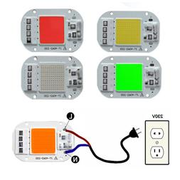 LED COB IC 50W Red blue green yellow pink AC 220V 380NM Smar