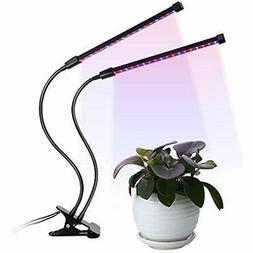 LED Germination Kits Plant Grow Light Dual Head 18W, 5 Dimma