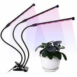 LED Germination Kits Plant Grow Light Triple Head 36W, 5 Dim