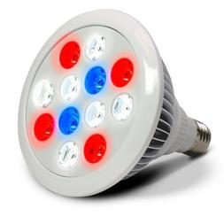 LED Grow Light 12w 4-band Dual Red - Blue - Daylight White S