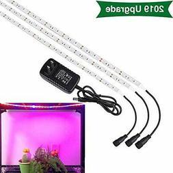 SOLMORE LED Grow Light, 3Pcs 1.6ft/Strip Plant Light for Ind