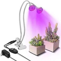 SOLMORE LED Grow Light Blub, 60W Dual Head Plant With Double