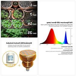LED Grow Light Bulb TaoTronics Full Spectrum Grow Lights for