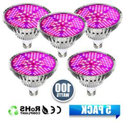 LED Grow Light Bulbs 100W E27 Full Spectrum for Indoor Flowe