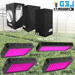 Led Grow Light Kit Indoor Plant Light Hydroponics Grow Tent