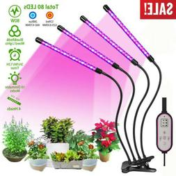 LED Grow Light Plant 4 Head Growing Lamp Lights for Indoor P