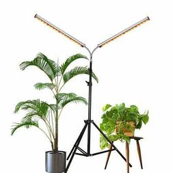 LED Grow Light Aceple Two Heads Gooseneck 60W Floor Lamp Eas