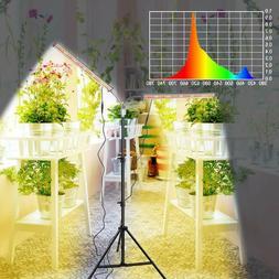 LED Grow Light, Two Heads Gooseneck 60W Floor Lamp Easy to U