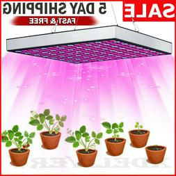 LED GROW LIGHT UV IR Growing Lamp Panel indoor Plants Hydrop