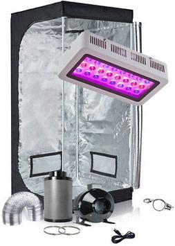 TopoGrow LED Grow Tent Complete Kit LED 300W Grow Light Kit