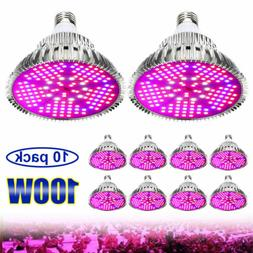 LED Plant Grow Light Bulbs 100Watt E26 E27 Full Spectrum Ind