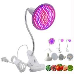 Led plant Grow Light Lamp bulbs Flexible Desk Holder Clip Pl