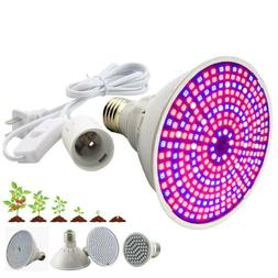 Led Seedling Plant Grow Light Bulb Power Cable indoor Flower